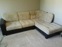 micro suede sectional sofa