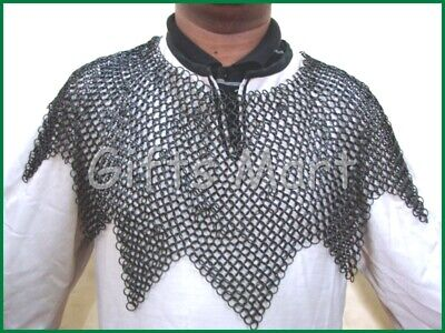 HALLOWEEN  Steel Butted 6mm Collar- Medieval Chainmail Metal Collar Knight Neck 6 Mm Neck Collar