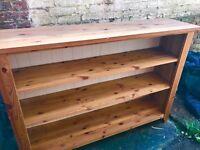 Large pine shelving unit dresser