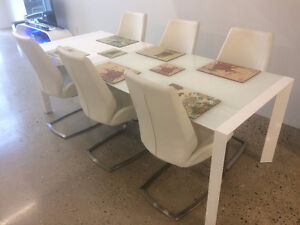 Modern Glass Dining Table & 6 Chairs