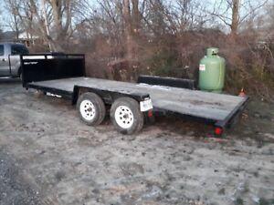 16 ft flatbed trailer