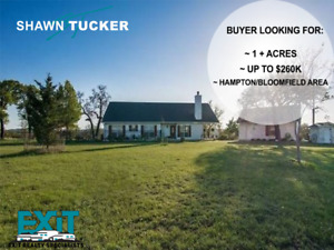 LOOKING FOR:HOME UP TO 260K, 1+ACRES IN HAMPTON BLOOMFIELD AREA!