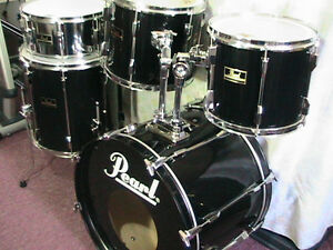 "5Pce*PEARL""Export""Pearl's Flagship Pro.Drum kit*TripleBlk*Mint! Windsor Region Ontario image 5"