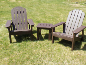 Adirondack Chairs & side table