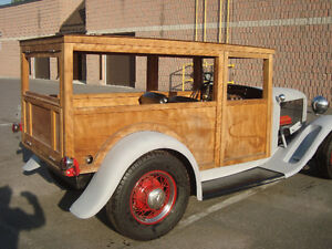 1932 ford woody wagon hot rod rat rod