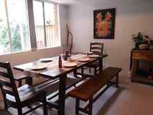 complete dining set - table, benches, chairs Warriewood Pittwater Area Preview
