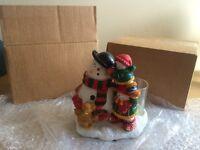 Christmas snowman Yankee candle