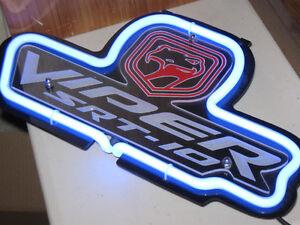 Dodge Viper Display Neon Blue Light 3D Acrylic Sign