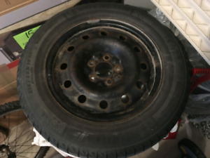 Set of 4 snow tires on rims