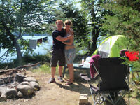 Spacious Island Tenting on Rice Lake! It's Simply AMAZING!