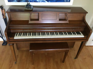 Mason Risch wood Piano with bench excellent condition