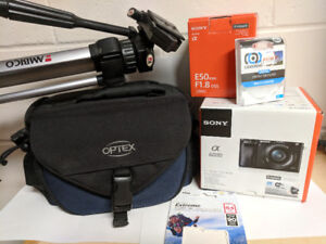 Sony a6000 with multiple accessories