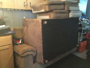 Matching couch and loveseat