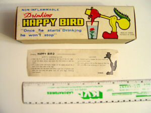 Vintage Drinking Happy Bird (Box only) with Instruction Sheet