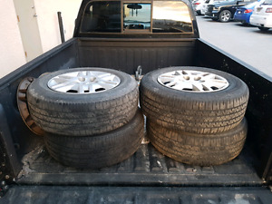 4x P215/65R15 summer tires & steel rims (off dodge caravan)