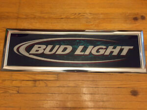 Old Bud Light Beer Sign