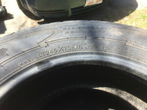 For Sale 5 - LT245/70R17 Goodyear Tires Like New
