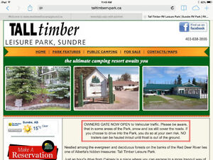 Looking for a Seasonal RV Lot Lease at Tall Timber!