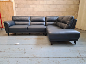 Brand New DFS RHF Open End Corner Sofa Amarillo with Leather Look Deni