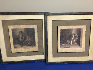 Set of Rustic Dog Pictures on Wood $40 - Brand New