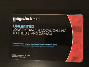 Magic Jack Plus Adapter for Unlimited Home Phone in Canada-USA