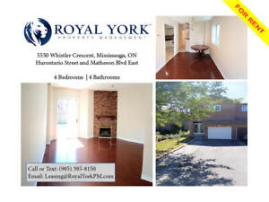4 BED/ 4 BATH- UPGRADED HOME FOR RENT @ MISSISSAUGA | SQUARE ONE