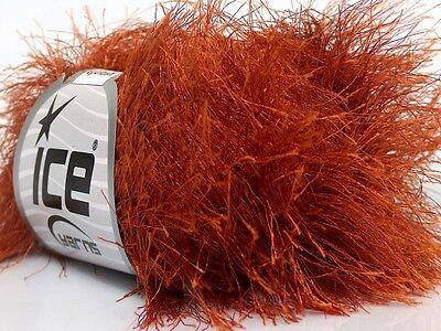 (38Yd Copper Extra Long Eyelash Yarn Ice Luxurious Fun Fur 42066 )