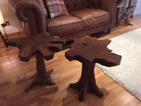2 beautiful solid rosewood side or bedside tables
