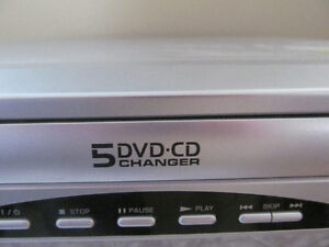 5-DISC CD/DVD PLAYER PLUS 26 MOVIES