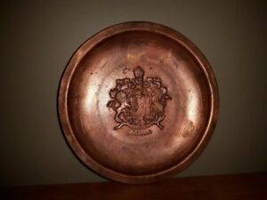 Solid Copper Plate - Hand Made - Canada Crest