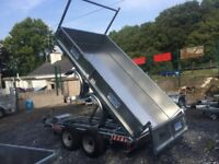 Trailer electric tipper trailer dale Kane tipping trailer