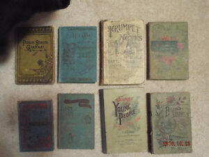 8 Antique Books
