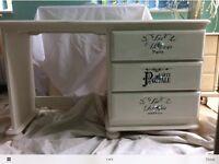Annie Sloan white desk/dressing table