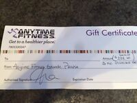Anytime Fitness Gift Certificate