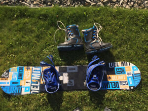 Snowboard, boots, and bindings for sale