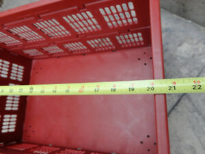 Red sturdy Collapsible Storage Crate -- In Excellent Shape Kitchener / Waterloo Kitchener Area image 4