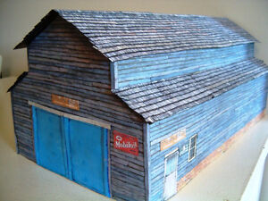 O scale warehouse model train railway building