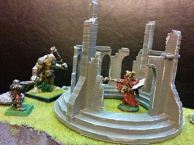 Circle Ruins Terrain Warhammer D&D Frostgrave 28mm 40K Fantasy Wargame 25mm LOTR