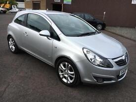 0808 Vauxhall Corsa 1.2i 16v SXi Silver 3 Door 56657mls MOT 12m