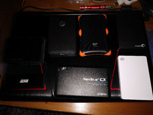 For Sale - Portable external Hard Drives - All in mint condition