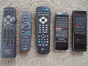 Lot of Remote for projectors, TV/VCR's...