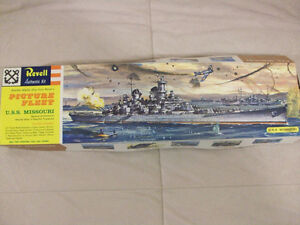 1969 Picture Fleet  U.S.S. Missouri Battleship - Revell # H-300