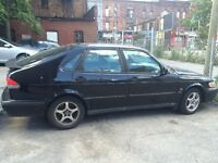 2001 Saab 9-3 Black Hatchback - with replaced engine