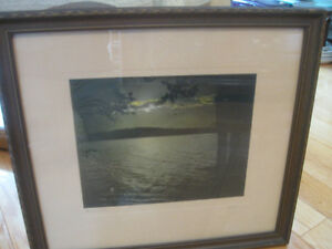 OLD VINTAGE PROFESSIONALLY FRAMED & MATTED PHOTOGRAPH