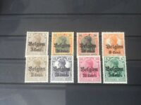 WW1 Mint & used German Stamps Occupation of Belgium collection