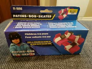 """Patins double lames """"Bob skates"""" pour enfant."""