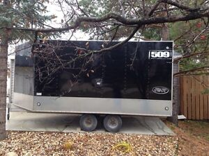 RENTAL TRAILER ALUMINUM ENCLOSED 3 PLACE SLED/CARGO BEST RATES