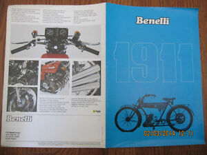 Classic Benelli Motorcycle Pamphlet Sarnia Sarnia Area image 1