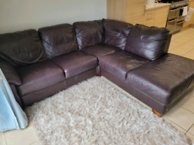 Leather corner sofa-free