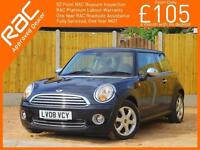 2008 MINI Hatch 1.4 6 Speed Start/Stop Pepper Pack Air Conditioning Heated Parki